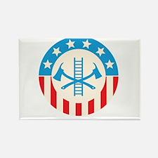 Patriotic firefighter Magnets