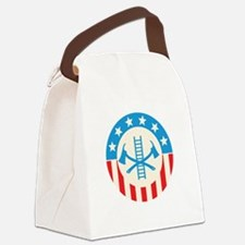 Patriotic firefighter Canvas Lunch Bag