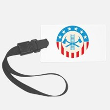 Patriotic firefighter Luggage Tag