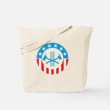 Patriotic firefighter Tote Bag