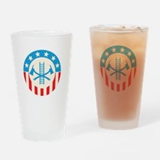 Patriotic firefighter Drinking Glass