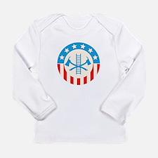 Patriotic firefighter Long Sleeve T-Shirt