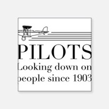 Pilots looking down people Sticker