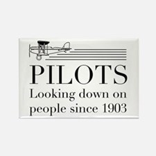 Pilots looking down people Magnets