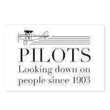 Pilots looking down people Postcards (Package of 8