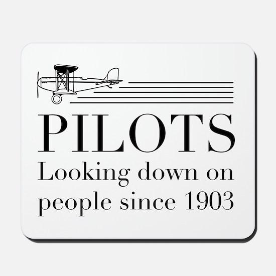 Pilots looking down people Mousepad