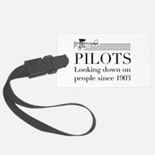 Pilots looking down people Luggage Tag