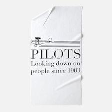 Pilots looking down people Beach Towel
