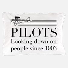 Pilots looking down people Pillow Case