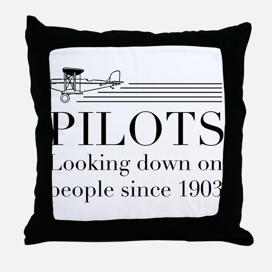 Pilots looking down people Throw Pillow