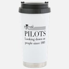 Pilots looking down people Travel Mug