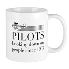 Pilots looking down people Mugs