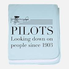 Pilots looking down people baby blanket