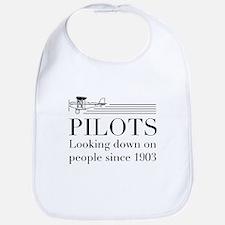 Pilots looking down people Bib