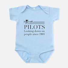 Pilots looking down people Body Suit