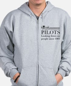 Pilots looking down people Zip Hoodie
