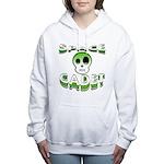 Space cadet png.png Women's Hooded Sweatshirt