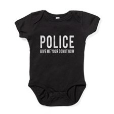 Police give me your donut now Baby Bodysuit