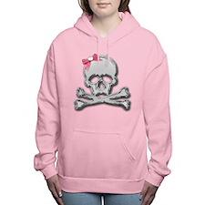 Skull chrome bow Women's Hooded Sweatshirt