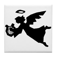 Angel With Harp Tile Coaster