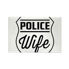Police wife Magnets