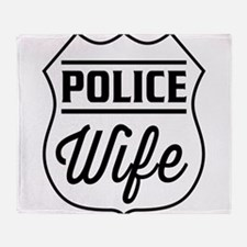 Police wife Throw Blanket