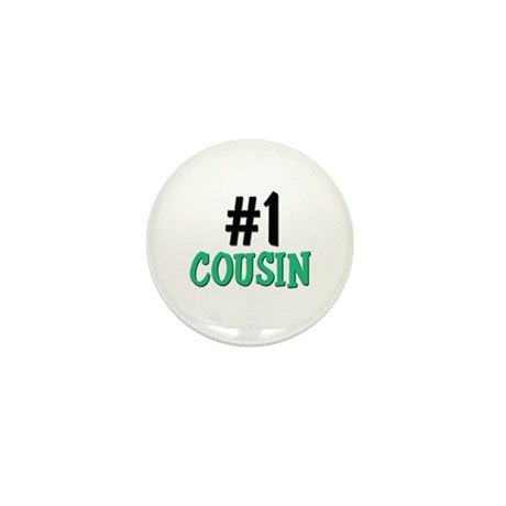 Number 1 COUSIN Mini Button (10 pack)
