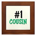 Number 1 COUSIN Framed Tile