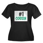 Number 1 COUSIN Women's Plus Size Scoop Neck Dark