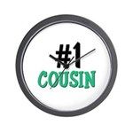 Number 1 COUSIN Wall Clock