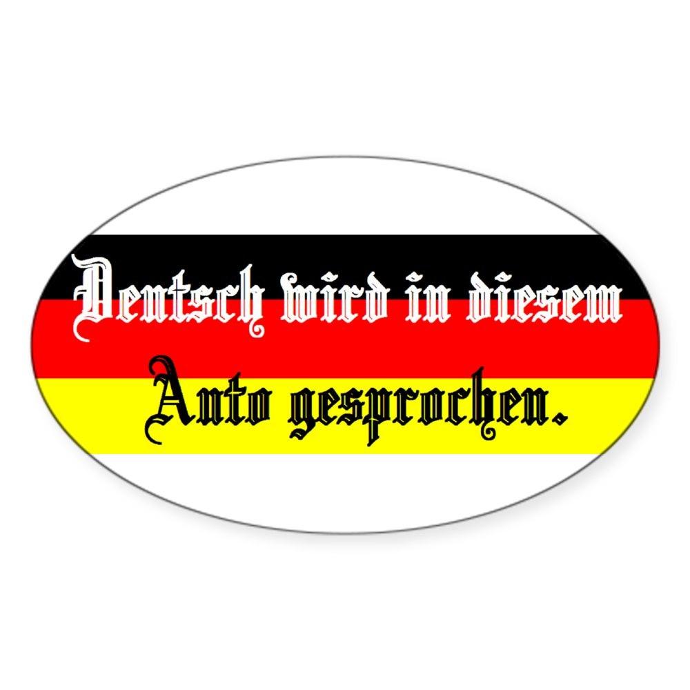 CafePress Deutsch Sticker Oval Bumper Sticker 1350790756 Euro Oval Car Decal