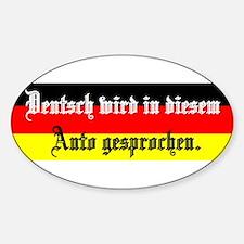 Cool Deutsch Sticker (Oval)