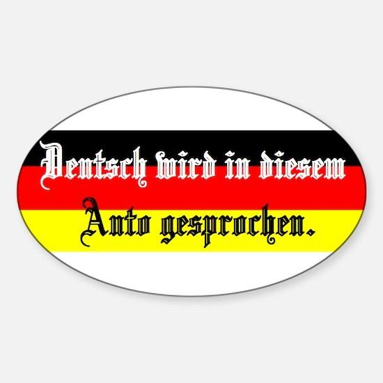 Cute German Sticker (Oval)