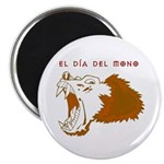 "Monkey Day El Mono 2.25"" Magnet (100 pack)"