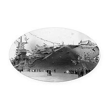 USS Shangri-La CV-38 Oval Car Magnet