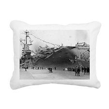 USS Shangri-La CV-38 Rectangular Canvas Pillow