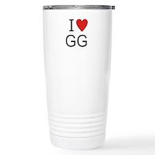 Cute I heart gg Travel Mug