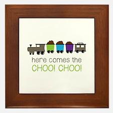 Here Comes The Choo! Choo! Framed Tile