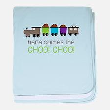 Here Comes The Choo! Choo! baby blanket