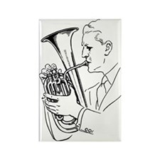 Man Playing Euphonium Musical Ins Rectangle Magnet