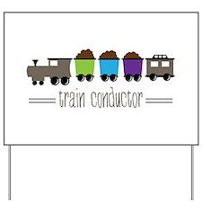 =Train Conductor= Yard Sign