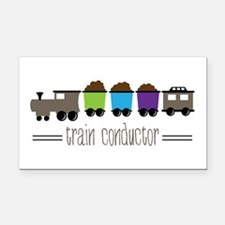 =Train Conductor= Rectangle Car Magnet