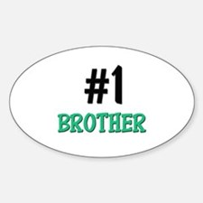 Number 1 BROTHER Oval Decal