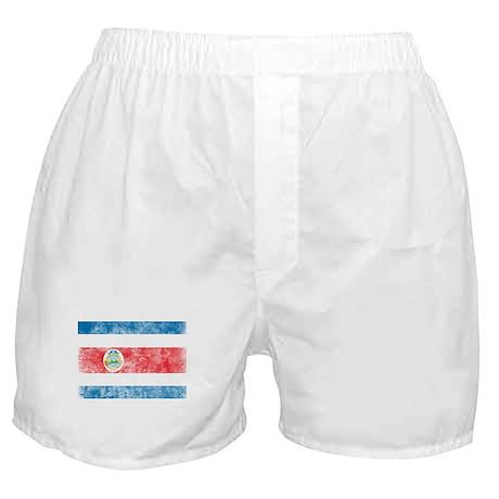 Vintage Costa Rica Flag Boxer Shorts