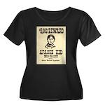 The Apache Kid Women's Plus Size Scoop Neck Dark T