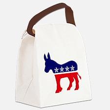 Cute Democrat donkey Canvas Lunch Bag