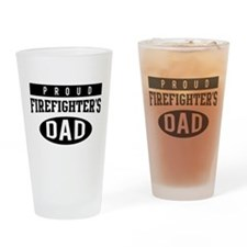 Proud firefighter's dad Drinking Glass