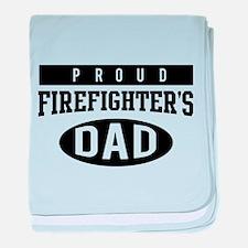 Proud firefighter's dad baby blanket