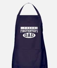 Proud firefighter's dad Apron (dark)