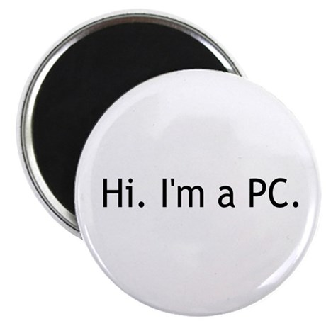 "Hi I'm a PC 2.25"" Magnet (100 pack)"